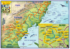 Toledo Belize Adventure Big Falls Trails Map by Franko Maps