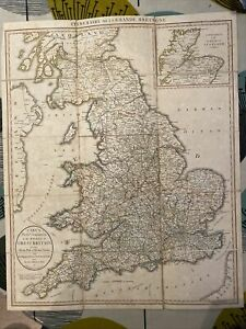 CARY'S POCKET COMPANION to ROADS of GREAT BRITAIN - ITINERAIRE - EARLY EDITION