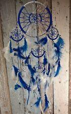 Hand Made Blue/Silver Dream catcher - Bad dream catcher decoration, mythical 50