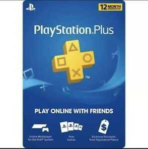 Sony PlayStation PS Plus 12 Month/ 1 Year PSN Membership Subscription (DIGITAL)