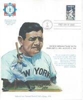 "#2046 Babe Ruth FDC on ""Babe Ruth Baseball"" 8"" x 10"" Card-Free shipping in USA"