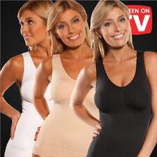 UK Women Cami Body Shaper Genie Bra ShapeWear Tank Top Slimming BodySuits Corset