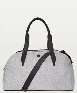 NWT LULULEMON Out Of Range Duffel Bag 33L Heathered Black Unisex For Travel/Gym!
