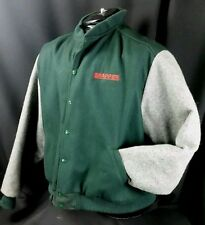 RARE Snapper Wool Sportsmaster XXL Jacket lawn mower letterman green USA Made