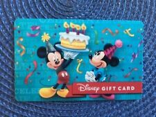 Mickey & Minnie Disney gift card collectible only-  no $ value or points on it