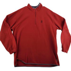 IZOD Sweater Men's Maroon Long Sleeve Sweatshirt Size XL 1/4 Zip - N18 PertormX