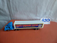 Metro Police Mobile Command Center Truck Trailer Tractor Toy Lorry Model Diorama