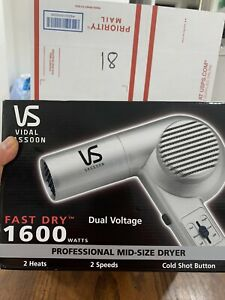 NEW Vidal Sassoon - 1600 WATT FAST DRY DUAL VOLTAGE PROFESSIONAL