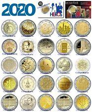2 Euros Conmemorativos 2020 SIN CIRCULAR *Todos los Países* Envío Inmediato
