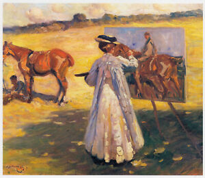 Laura Knight Painting by Sir Alfred Munnings print in 11 x 14 mount SUPERB