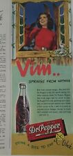1947 Dr Pepper soda bottle them Springs from within Jane Adams vintage ad