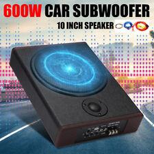 "10"" Car Subwoofer Under-Seat Sub Woofer 600W Speaker Stereo Slim Amplifier"