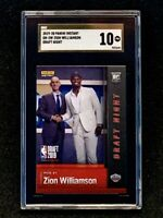 2019-20 Panini Instant Draft Night Zion Williamson Rookie SGC 10 Gold Label.