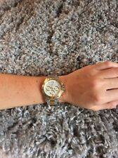 Michael Kors Stainless Steel/Gold-Tone Women's Watch With White Face