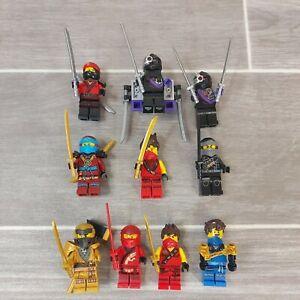 Lego Ninjago Minifigure Bundle With Weapons Kai Nya Jay Cole Nindroid
