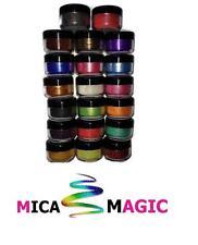 Perfect pearl Mica powder pigments cosmetic soap making bath bombs 16 x5ml pots