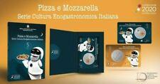 5 EURO 2020 PIZZA E MOZZARELLA SERIE CULTURA ENOGASTRONOMICA ITALIANA FDC