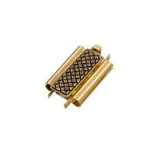 Beadslide cross hatch slider fermoir antique gold 10x18mm (L80/1)