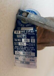 Watts #10L, Brass Water Pressure Relief  Valve, 3/4 In., 90K BTU, 125 PSI