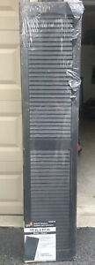 """2-Severe Weather Exterior Louvered Black Vinyl Shutters-15""""W x 67""""L-New-#465872"""