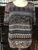 Damen Bluse Shirt Modisch Schick von Canda Gr.42