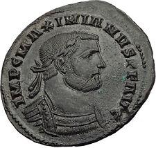 MAXIMIAN 296AD Rare Londinium London Follis Nummus Ancient Roman Coin i63981