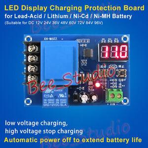 LED Automatic Battery Charging Controller Module Protection Board  3.7V-120V 24V