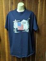 Red, White & Blue Patriotic 4TH of July Shirt Size Large Country Scene