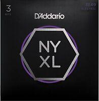 D'Addario Nickel Wound Electric Guitar Strings, Medium, 11-49, 3 Sets