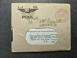 APO 633 CAMP GRIFFIS, TEDDING, ENGLAND 1943 WWII Army Cover 8 AFS V-MAIL Letter