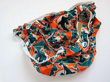 VINTAGE-STYLE NFL Miami Dolphins NWT 100% Silk String Bikini Panties LARGE