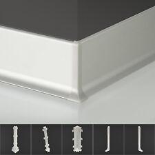 Fußbodenleisten 60mm Alu Sockelleiste 250cm Fußleiste Wandleiste Fussleisten SI