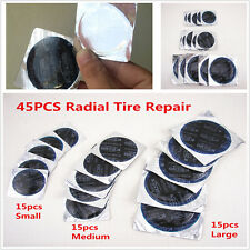 45PCS Motorcycle Cold Patch Radial Tire Repair Round Tubeless Patch Assortment