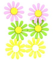 2.3cm enamel daisy flower stud earrings, 50s, 60s retro, multiple choices