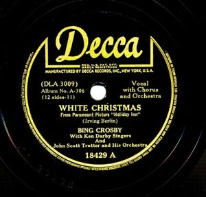 BING CROSBY 1942 Decca 18429 - WHITE CHRISTMAS / Let's Start the New Year Right