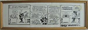 """""""WACK"""" - Original Strip Cartoon Artwork by Hugh Morren - From The SUN Newspaper"""