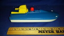 """vtg Gay Toys Plastic Speedboat Racing Boat 7 1/2"""" Made in U.S.A. Shipping Incld"""