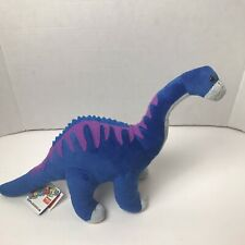 Wild Republic Dinomites Diplodocus Dinosaur Plush Blue Purple Nwt