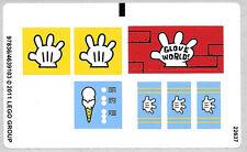 LEGO 3816 - Spongebob - Glove World - STICKER SHEET