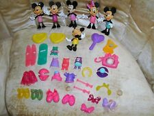 Disney Minnie Mouse Doll Bow-Tique-Dress Up Clothes Snap On Lot