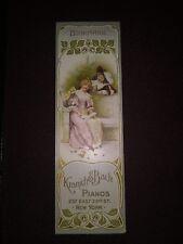 1800s Kranich bach piano Bookmark 237 East 23rd St New York Ephemera