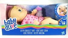 Baby Alive Luv n Snuggle Doll (blonde curly hair) Brand New