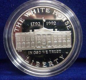 1992 W $1 The White House  Commem. PROOF Silver Dollar NO BOX OR COA *DN*