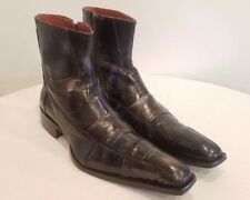 JO GHOST Men's Ankle Boots Black With Blue Tones Leather Size 43 US 10 MINT