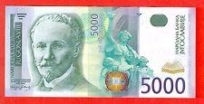 YUGOSLAVIA - SERBIA - 5000 Dinara ISSUE 2002  XF  XF+ VERRY RARE  ZA REPLACEMENT