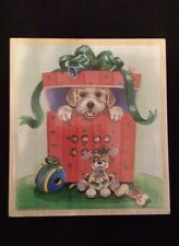 Stamps Happen Rubber Stamp PEEK A BOO PUPPY Patterson Christmas Present Dog Gift
