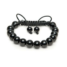 Zebredellas Mens bracelet Fathers Day Genuine Black Onyx beads Made UK
