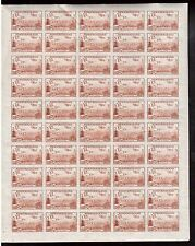 Newfoundland #C13a XF/NH Imperforate Unique Full Sheet
