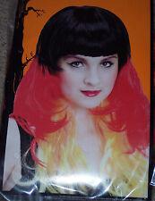 Multicolored Sunburst wig,Mardi Gras,layered long hair,clown,Adult 1 size