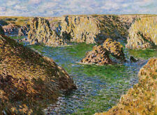 No framed Oil painting Claude Monet - Port Donnant, Belle-Ile impressionism sea